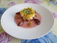 Tartar   de  fruits   frais   jus  de  prune  Gino D'Aquino.