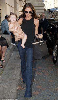 Daily Celebrity Style: Victoria Beckham wearing J Brand denim