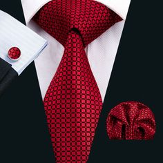 Gentleman Joe Light /& Dark Red Plaid Tie Multicolored