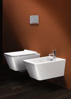 Wall-hung WC. 4,5 lt flush. Wall-hung single-hole bidet.