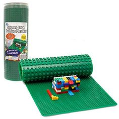 Rollable, Two Sided Silicone Brick Building Play Mat  Works With LEGO And  Duplo