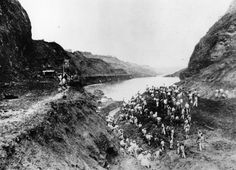 Progress on the canal was impeded by many obstacles, like the landslide these workers wereclearing in 1913. Flooding, tropical temperatures, and mosquitoes (which transmitted yellow fever) were also major challenges.