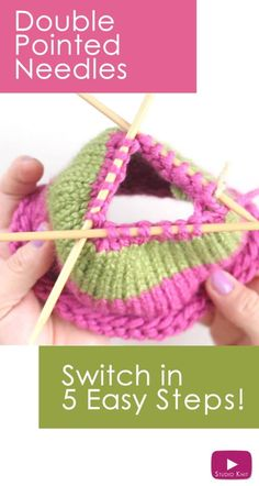 How to Knit on DPNs: Switch to Double Pointed Knitting Needles with Studio Knit - Watch Free Knitting Video Tutorial Knitting Help, Knitting Videos, Easy Knitting, Loom Knitting, Knitting Stitches, Knitting Socks, Knitting Patterns, Knit Socks, Double Pointed Knitting Needles