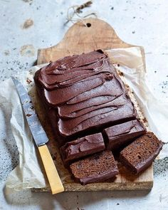 Sticky chocolate gingerbread