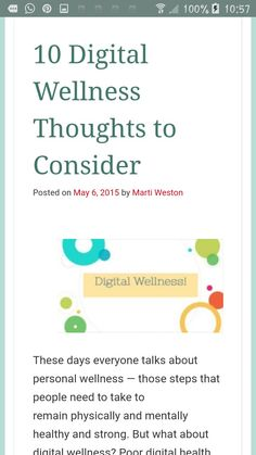 Digital wellness thoughts to consider Personal Wellness, Health Questions, Physically And Mentally, Health And Wellbeing, Nursing, Digital Marketing, Exercises, Health Care, Social Media