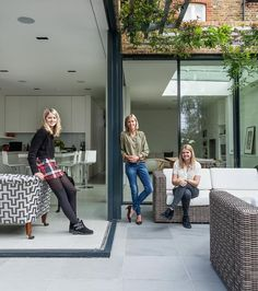 Out with the old in Streatham: Victorian house becomes modern family home Glass Extension, Extension Designs, Rear Extension, Extension Ideas, Modern Family, Home And Family, Taupe Walls, Kitchen Family Rooms, Front Rooms