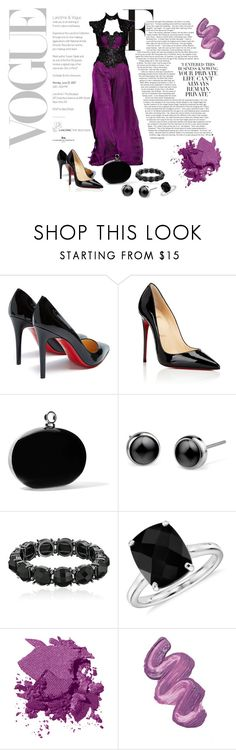 """Phantom of the Opera #03"" by adelinejaned on Polyvore featuring Andrew Gn, Christian Louboutin, Halston Heritage, 1928, Blue Nile, Bobbi Brown Cosmetics and Violet Voss"