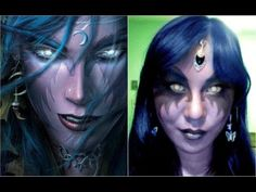 How to Apply Night Elf Makeup for a Halloween Costume Halloween Eye Makeup, Halloween Eyes, Elf Makeup, Creative Halloween Costumes, Makeup Ideas, Elf Cosplay, Elf Costume, Cosplay Costumes, Cosplay Ideas