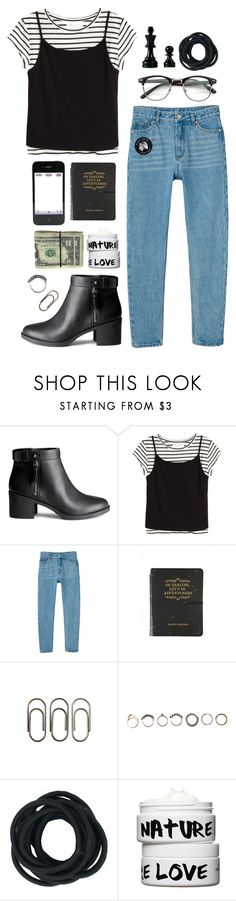 """""""B."""" by triciaarante ❤ liked on Polyvore featuring H&M, Monki, Clips, Sara M. Lyons, Iosselliani and Nature Girl"""