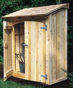 Protect your garden tools from the cold winter weather with a great cedar shed or enclosure. Here are a few of our favorites and what you can do with them...