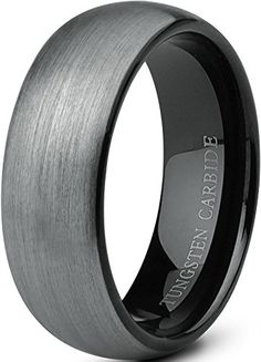 Jstyle Jewelry Tungsten Rings for Men Wedding Band Black Ring 8mm ... (10). Build of Durable Tungsten Carbide, Excellent Scratch Resistant Ability. 8mm Width, Elegant Brushed Matte Surface, Excellent Touching Feeling. High Polish Smooth Inner Face, Pinchproof, Convenient Wearing. Weighty Tungsten Carbide, Hypoallergenic, Free of Lead and Nickel. Provide with Life-time Guarantee.