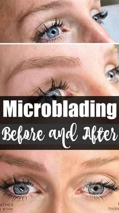Microblading- The Process and Before & Afters with Feather and Wink Microblading