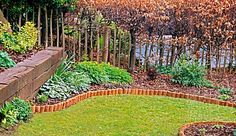 1000 images about edging on pinterest railway sleepers for Log garden edging