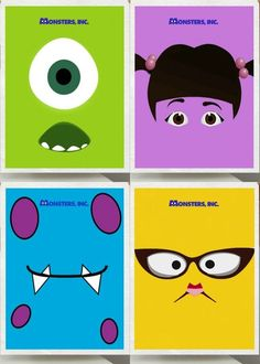 Movie Friday: 8 Alternative Movie Posters for Monsters Inc. Gunna try the mike and sully ones Monsters Inc Movie, Monsters Inc Nursery, Monsters Inc Baby Shower, Monsters Ink, Monsters Inc Characters, Disney Diy, Disney Love, Disney Magic, Disney Pixar