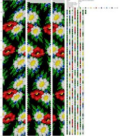 Bead Loom Patterns, Beading Patterns, Cross Stitch Patterns, Crochet Patterns, Beaded Jewelry, Beaded Bracelets, Bead Crochet Rope, Cross Stitch Flowers, Beads And Wire