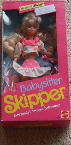 Babysitter Skipper... my ABSOLUTE favorite Barbie outfit of all of them... would love to make Mack a life-size version... belly covering of course!