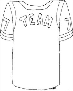 drawn football jersey