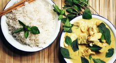 Gul curry med fisk og bambus // Yellow curry