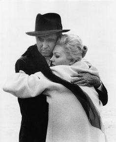 Kim Novak and James Stewart in Vertigo(1958)