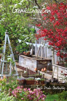 Gemüsegarten Bio Food, Garden Cottage, Diy Crafts, Plants, Corner, Backyard Farming, Patio, Secret Gardens, Flower Beds