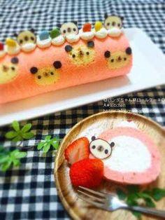 Panda roll cake