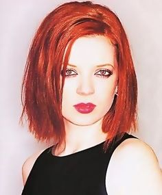Shirley Manson, lead vocalist for the music group Garbage.