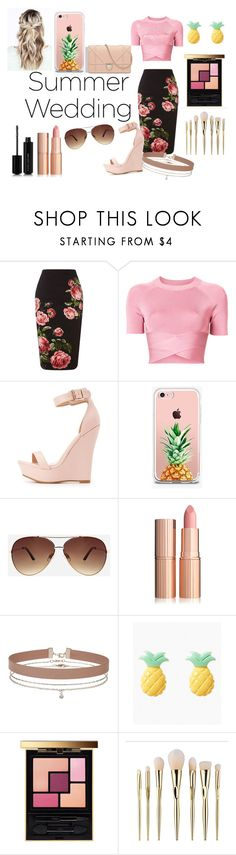 """summer wedding"" by bambi-sinclair on Polyvore featuring Royal Worcester, T By Alexander Wang, Charlotte Russe, The Casery, Ashley Stewart, Miss Selfridge, Yves Saint Laurent and Marc Jacobs"
