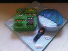 Skydiving Birthday Cake! Very cool. Birthday Cakes, Birthday Ideas, Sugar Dough, Cupcake Cakes, Cupcakes, Skydiving, Coops, Cake Ideas, Cake Decorating