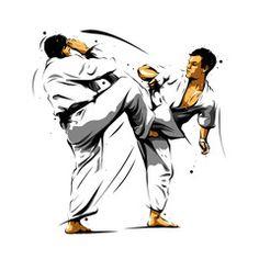 karate action 7 Buy this stock vector and explore similar vectors at Adobe Stock Taekwondo, Karate Kata, Shotokan Karate, Jiu Jitsu, Fighting Poses, Kyokushin, Art Rules, Martial Arts Techniques, Japanese Warrior