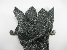 Cotton pocket square Andre by LeBoutonVert on Etsy, $11.75