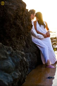 Romantic Engagement Session on the beaches of Hawaii. Photograph by Maui Creative Photography. www.mauicreativephotography.com #love #engagement #romance #couples #goldenlight