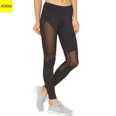 67a955a744cb0 OEM Fitness Women Gym Pants Sports Legging Mesh Panel Yoga Leggings Mesh  Leggings, Sports Leggings