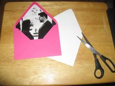love this idea of using photos as envelope liners!