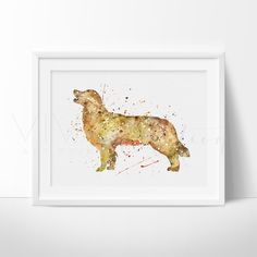 Golden Retriever Dog Animal Nursery Art Print Wall Decor