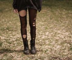 Torn stockings - Effy Stonem from Skins UK.