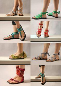 Sandalias tipo artesanales. Hermosas.