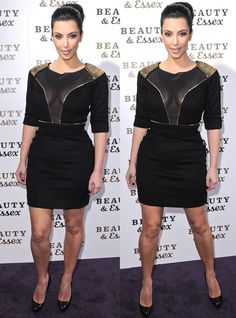 Kim Kardashian at the grand opening of Beauty & Essex in New York City on December 10, 2010