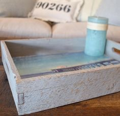 Reclaimed Wood Serving Tray: Daybright Manhattan Beach Pier