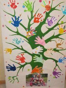 Les enfants cette année ont beaucoup travaillé sur le thème de la forêt et des arbres. Aussi quand est venue l'heure des cadeaux de fin d'année, ma copine Katia a-t-elle eu l'idée d'offrir à chacune des deux maitresses de la classe de maternelle bilingue...