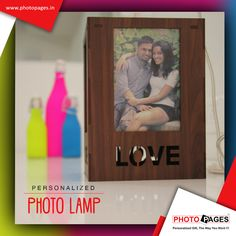 Gift this Personalized photoLamp to your loved one, a gift that she will always cherish. #Personalized #Gift #PhotoPages #PhotoLamp