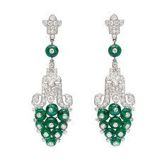 Cartier Art Deco Diamond Earrings