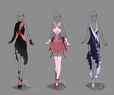 Dress Designs #2 - sold by Nahemii-san.deviantart.com on @deviantART