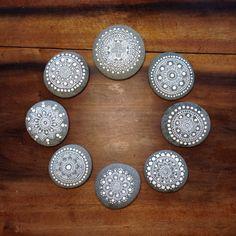 Custom Listing for Debra Correll Cheney -  8 Mandala Painted Pebble