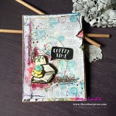 Its getting warmer here in Sydney, spring is in the air and in my mood. Coffee Break, Coffee Time, How To Get Warm, My Mood, Art Journals, Mixed Media, Paper Crafts, Cards, Tissue Paper Crafts