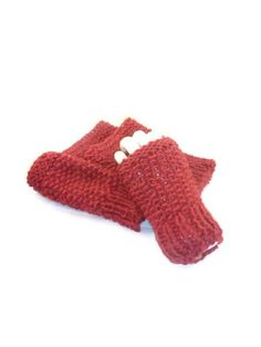 Boot cuffs and  Fingerless gloves, Knitted set,  Magenta. $40.00, via Etsy.