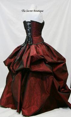 Customizable to your color preference  Beautiful Steampunk inspired ball gown…