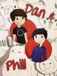 Dan and Phil Fan Art | Dan + Phil Poster Competition by Nintendemon