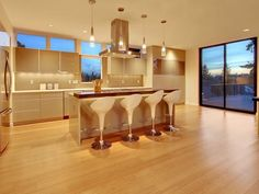 Photo of Brown Contemporary Kitchen project in Seattle, WA by ALCOVA architecture