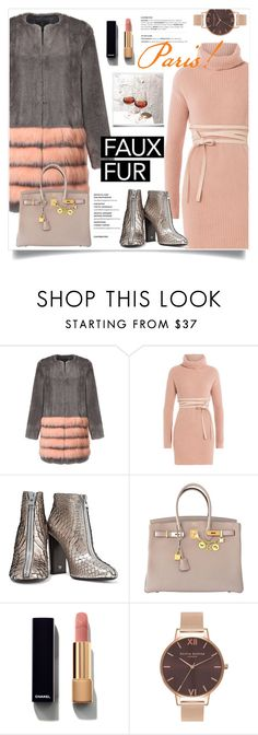 """Faux Fur"" by frechelibelle ❤ liked on Polyvore featuring Unreal Fur, Valentino, Tom Ford, Hermès, Chanel and Olivia Burton"