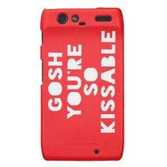 Droid RAZR Cases ...... Gosh,Kissable
